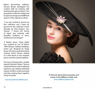 Tamsyn Brocks Milliners Guild Issue 101